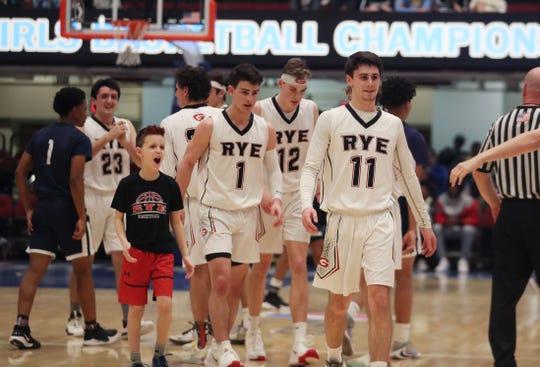 The Rye boys basketball team was one of seven Section 1 teams still playing when the NYSPHSAA announced it would cancel the remainder of its winter championships.