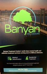 Banyan Treatment Centers plans to open a Delaware facility in Milford come August.