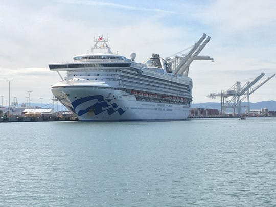 The first to disembark from the Grand Princess will be those requiring hospitalization.