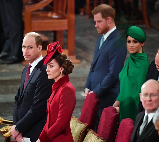 meghan markle queen prince harry more reunite for commonwealth day meghan markle queen prince harry
