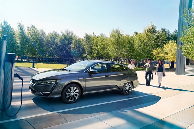 The Honda Clarity Electric vehicle.