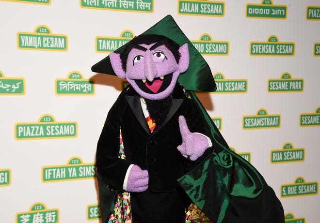This May 30, 2018 file photo shows Sesame Street character Count von Count at Sesame Workshop's 16th annual Benefit Gala in New York.