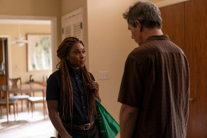 Cynthia Erivo as Holly and Ben Mendelsohn as Ralph in the season finale of