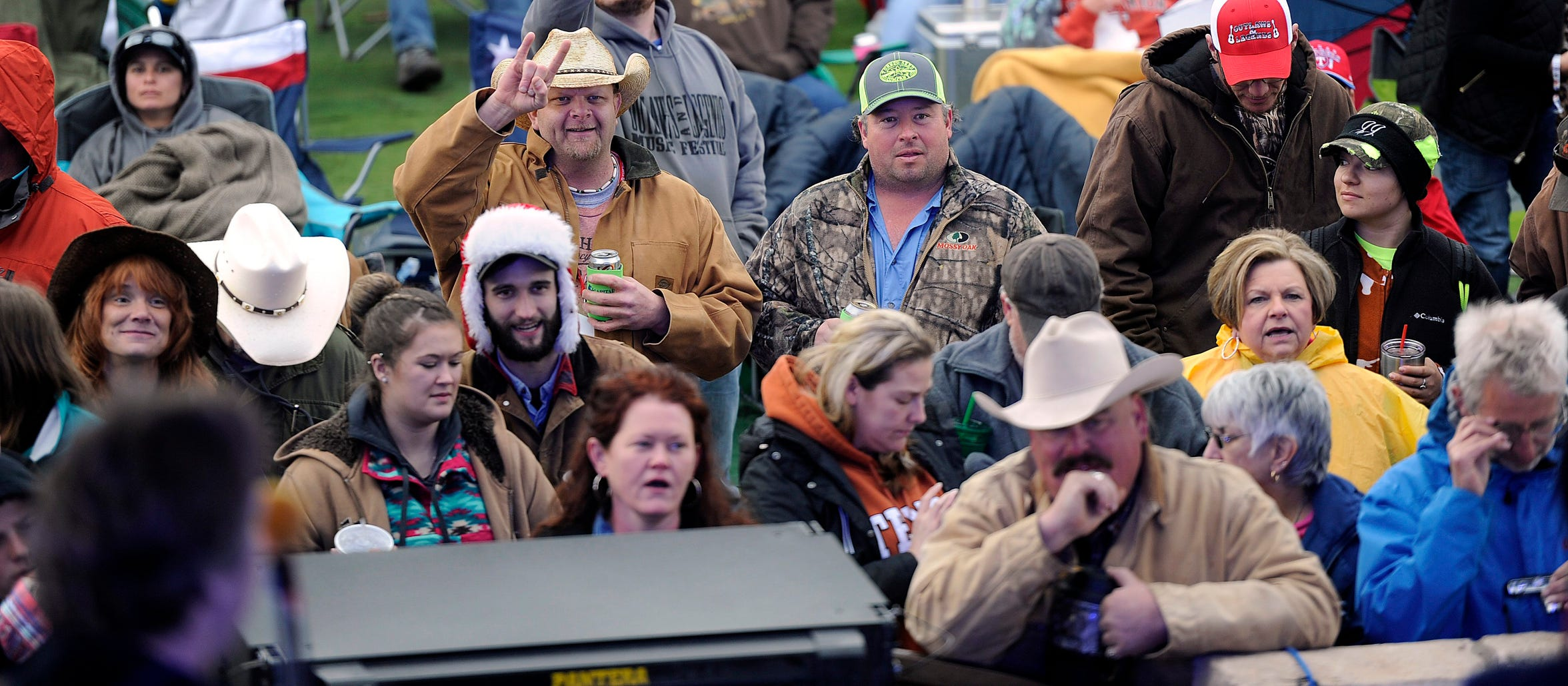 Fans cheer as Dean Dillon & the Texas Jamm Band perform during the 2016 Outlaws & Legends Music Festival in 2016.