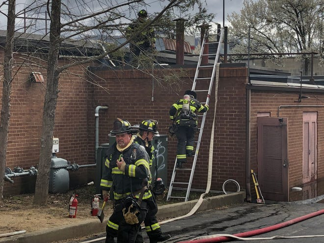 In this file photo, the Asheville Fire Department responds to a blaze at J&S Cafeteria in River Ridge Shopping Center in March 2020. The cafeteria has undergone renovations and should reopen in late July, 2021, the shopping center management company says.