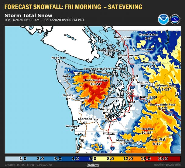 The Kitsap Peninsula may see a small amount of snow this weekend.