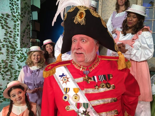 """Rob Dickman plays """"The Major-General,"""" who realizes that his lie has been discovered in """"The Pirates of Penzance,"""" on stage at Surfside Playhouse through March 29. Visit surfsideplayers.com."""