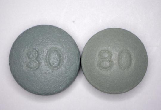 High-dosage oxycodone pills