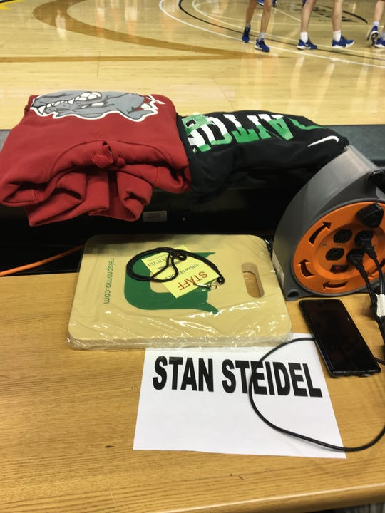 The Ninth Region honors former longtime administrator Stan Steidel with a reserved spot on press row.