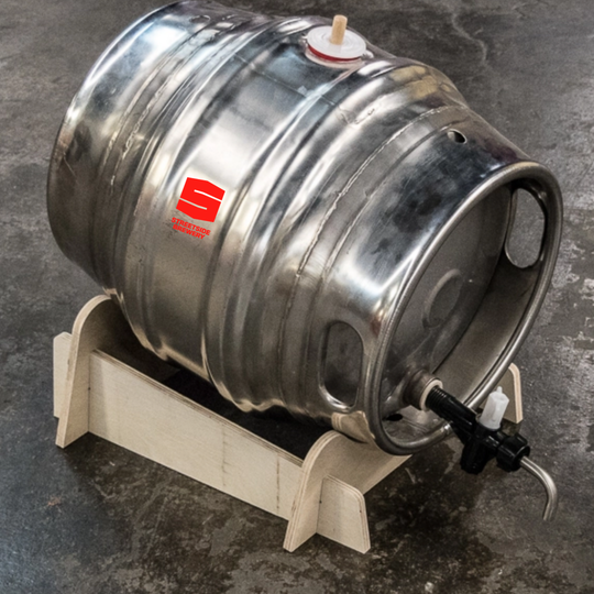 A barrel of beer at Streetside Brewery.