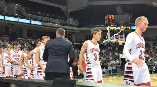 St. Henry leaves the floor March 9, 2020 after its season-ending loss
