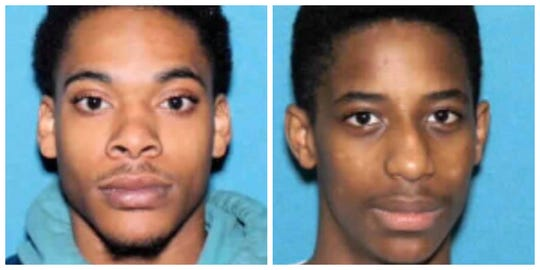 Darreon Earl Wright, 24, (left) and Thomas Cortez Davis, 16 have been identified as suspects in a Feburary shooting, Des Moines police say.