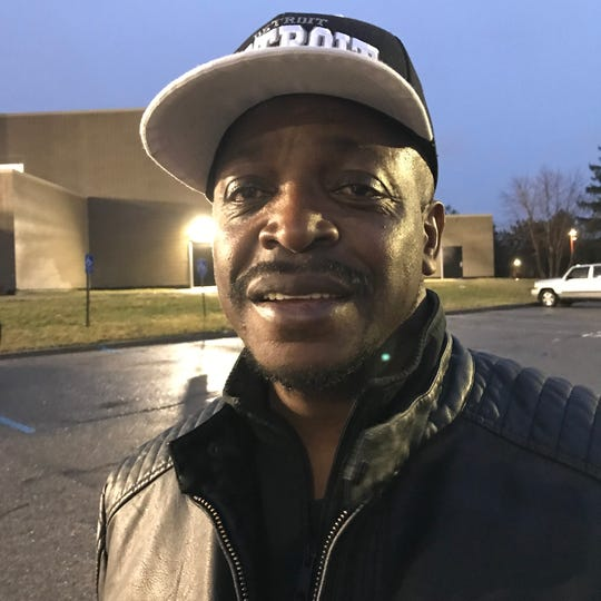 Alphonzo Horton voted for Joe Biden on Tuesday, March 10, 2020, at the  Coleman A. Young Recreation Center in Detroit.