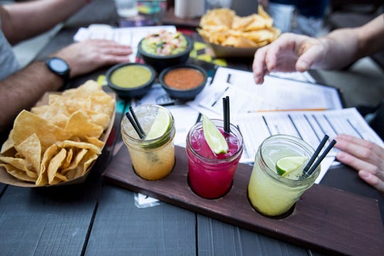Condado Tacos, opening in Midtown on Thursday, offers a variety of margaritas as well as tacos.
