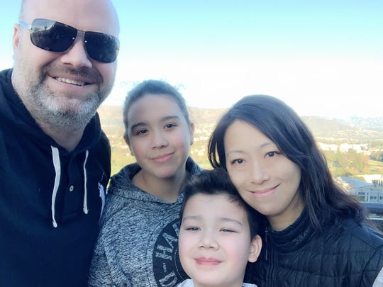 Andrew Parrish, Shirley Parrish, Aaron Parrish and Weng Lu on vacation in California in 2019.