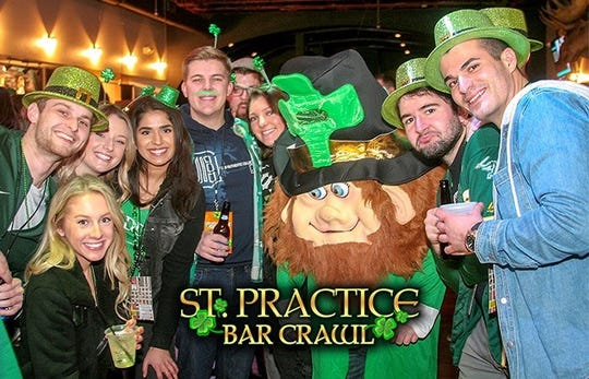 Fifteen Royal Oak bars art participating in the St. Practice Bar Crawl.
