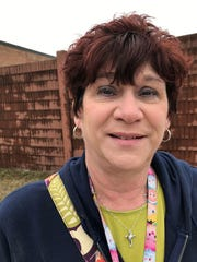 Becki Kunkel, a 56-year-old secretary at a Lutheran school, after voting Tuesday, March 10, 2020, at Jeanette Junior High School in Sterling Heights,