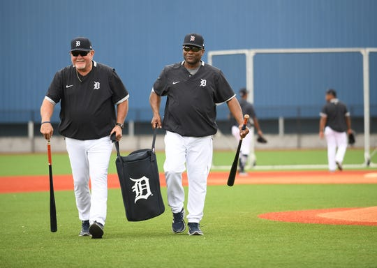 Manager Ron Gardenhire, left, here with bench coach Lloyd McClendon, is saddled with a Tigers team that is slim on talent but there is help on the way in the minor leagues.