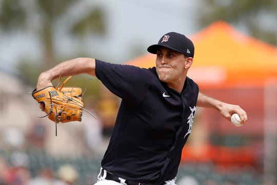Tigers starting pitcher Matthew Boyd throws during a game against the Pirates on Tuesday.