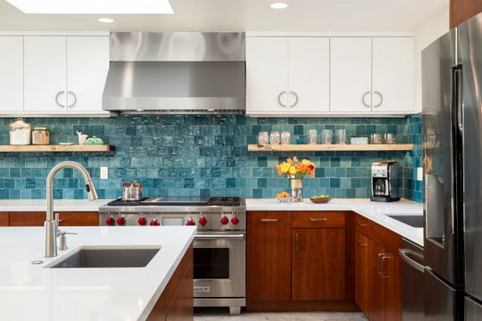 Kitchen backsplashes are an affordable way to add a blast of color to your home.