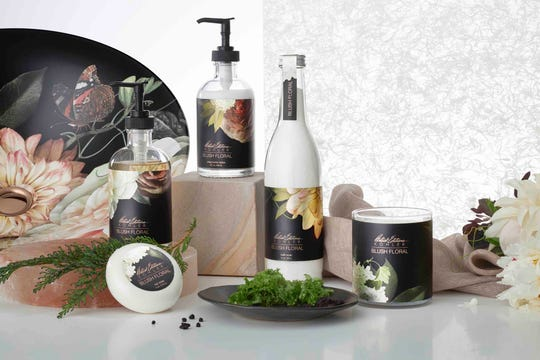 Look for bath/body products that are professionally designed and sold together.  (Kohler)