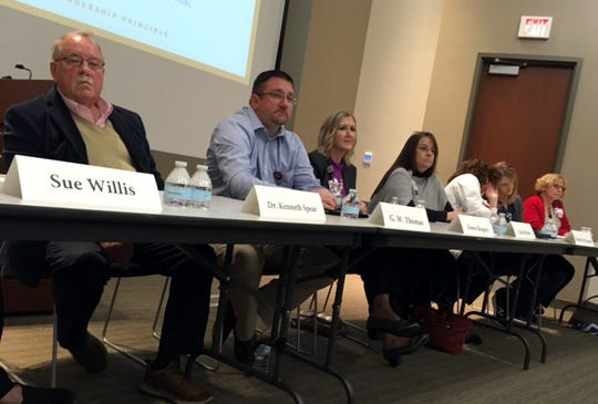 Evansville area health professionals,elected officials and business and education leaders met Tuesday, March 10, in Old National Bank's 4th floor auditorium to discuss Evansville's preparation for and response to coronavirus.