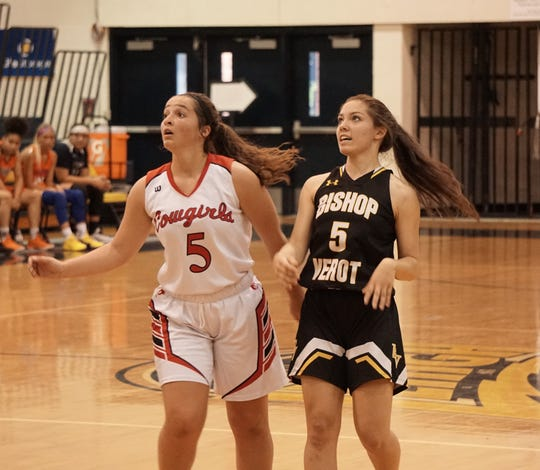 LaBelle's Taylor Sanchez and Bishop Verot's Catie Reszel follow the ball during Monday's SFABC Senior All Star Game at Lehigh High School.