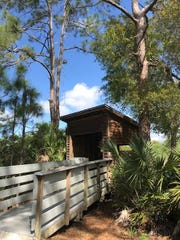 An observation post overlooks a wetland at Conservation 20/20's Prairie Pines Preserve in North Fort Myers.