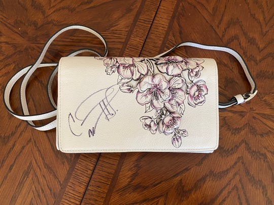 One of two handbags signed by Carrie Underwood for Handbag Happy Hour