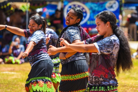 "A dash of attitude seems to be reflected in a dance performed by Pohnpei Student Organization members during the 52nd Charter Day festivities at the University of Guam campus in Mangilao on Tuesday, March 10, 2020. The theme of this year's event was ""Local Inspiration, Global Impact."""