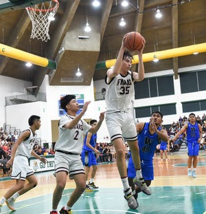 No. 35 Matt Fegurgur, center for the Father Duenas Friars, was voted Most Valuable Player in the IIAAG All-Island coaches picks announced on Monday.