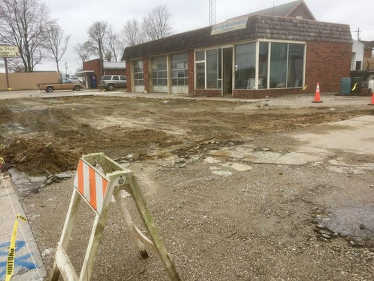The Rideout Service Center building sits empty Tuesday, awaiting a demolition crew from Hazex Construction.