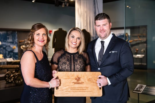 Union City native and general manager of the Tennessee Titans Jon Robinson, seen here with his wife, Jaimie, was honored during the gala. The award was presented by Robinson's sister, Allison Palmer.