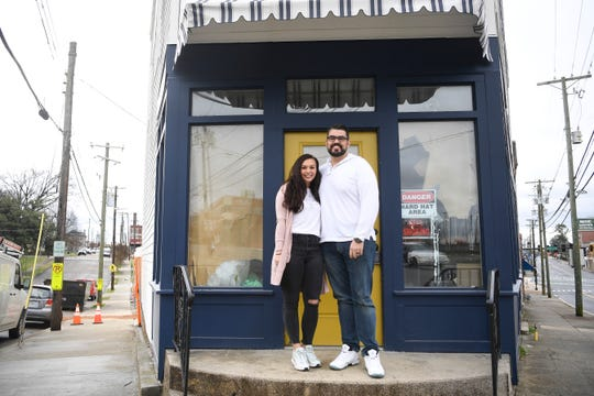Brian Gentry and his daughter Averee pose for a photo at their new business, The Donut Shop, which is opening on North Broadway near the intersection of Central.