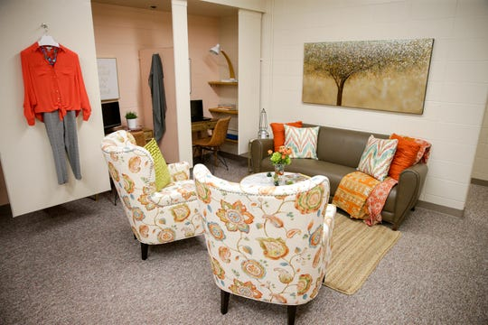 A seating area inside Persimmon boutique inside the YWCA of Greater Lafayette, Tuesday, March 10, 2020 in Lafayette.