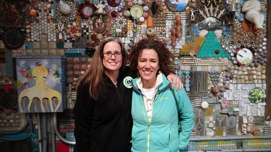 No Waste Louisiana is part of a joint effort by Amanda Waddle, left, and Catherine Comeaux.