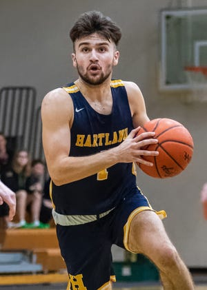 Hartland's Kyle Hamlin is a first-team all-county basketball player who holds a 4.1 grade point average.