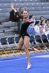 Alyssa Weber of Howell was first all-around in Division 1 at regionals.