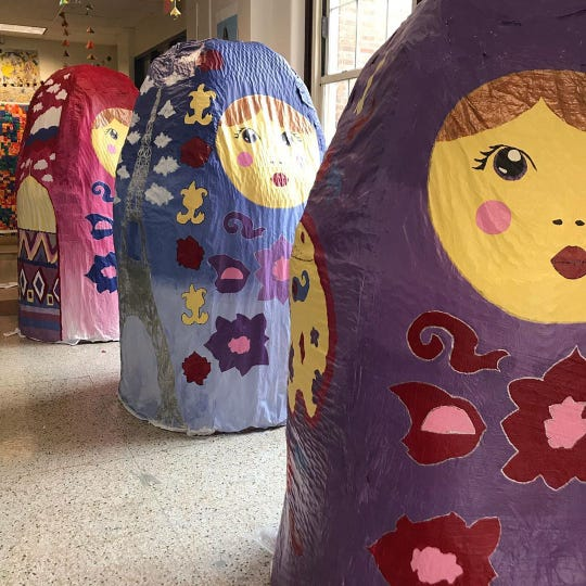 """The Nesting Project created by Western Middle School for PNC Broadway in Louisville's  """"Anastasia"""""""