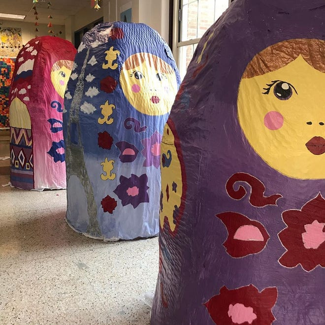 "The Nesting Project created by Western Middle School for PNC Broadway in Louisville's  ""Anastasia"""