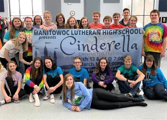 The cast of 'Cinderella' at Manitowoc Lutheran High School.