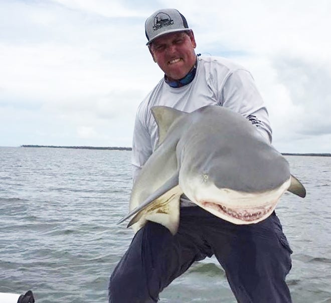 Great day catching bull sharks and snooks with the gang from Sioux Falls.