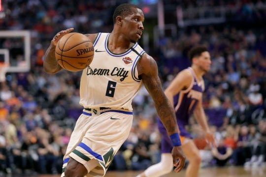 Bucks guard Eric Bledsoe was held out for a buildup of fluid on his right knee.