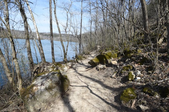 The Rim Shoals walking trail offers hikers a scenic view of the White River.