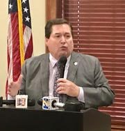 Lt. Gov. Billy Nungesser spoke at the Ronald Reagan Newsmaker Luncheon in Baton Rouge Tuesday.