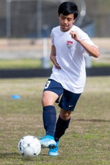 during soccer practice at Park Crossing High School in Montgomery, Ala., on Monday March 9, 2020.