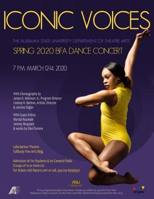 Iconic Voices, Alabama State University's spring 2020 BFA dance concert, is Thursday, Friday and Saturday.