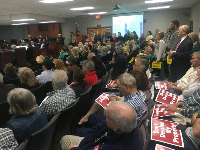 Williamson County residents piled into the 222-seat auditorium at the Williamson County Administrative Complex on Monday to hear the County Commission's vote on the proposed land use plan. The Planning Commission will hear the plan on Thursday.