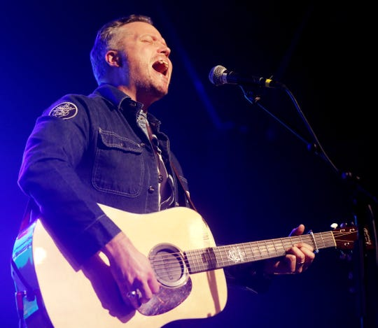 """Jason Isbell performs during the tornado relief benefit concert """"To Nashville, With Love"""" at Marathon Music Works Monday, March 9, 2020."""