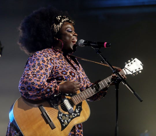 """Yola performs during the tornado relief benefit concert """"To Nashville, With Love"""" at Marathon Music Works Monday, March 9, 2020."""